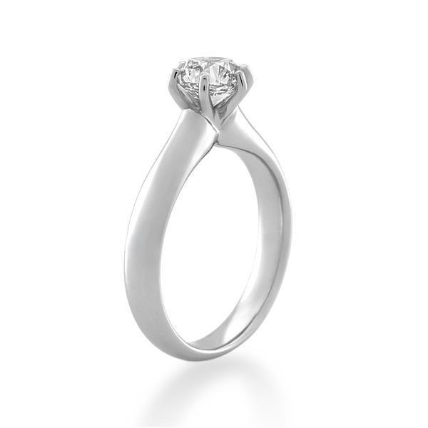 Palladium 1.05ct Diamond Ladies Ring Shank Width 3.00 mm. - Monty Adams