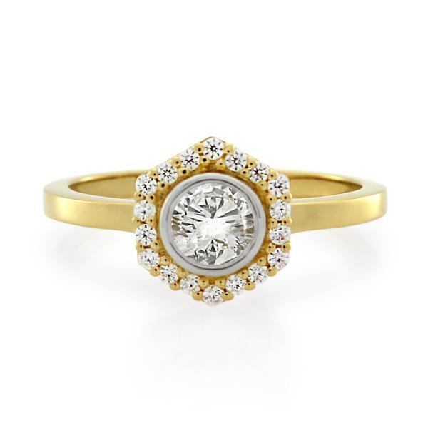 18CT Yellow Gold 0.49ct Diamond Ladies Ring - Monty Adams