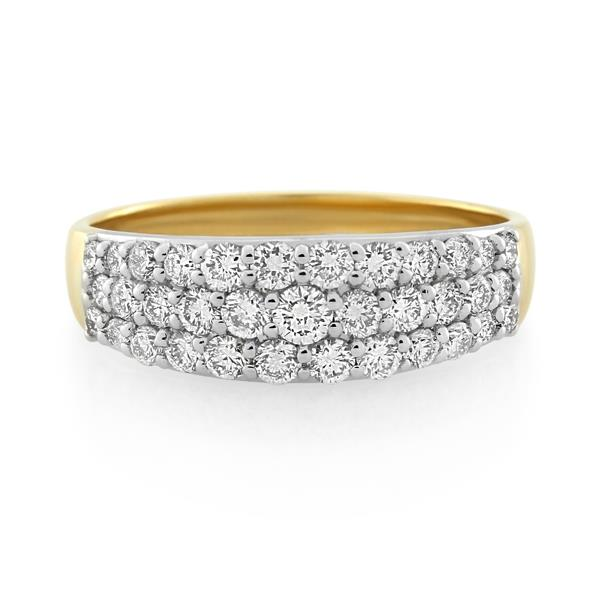 18CT Yellow/White Gold 1.02ct Diamond Ladies Ring - Monty Adams