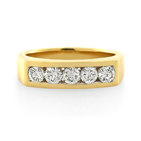 18CT Yellow Gold 1.00ct Diamond Ladies Ring - Monty Adams