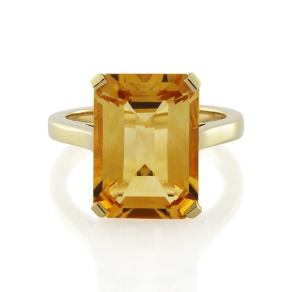 9CT Yellow Gold Citrine Ladies Ring - Monty Adams
