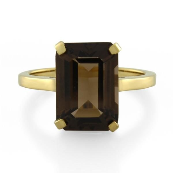 9CT Yellow Gold Smoky Quartz Ladies Ring - Monty Adams