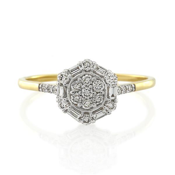 9CT Yellow Gold 0.35ct Diamond Ladies Ring - Monty Adams