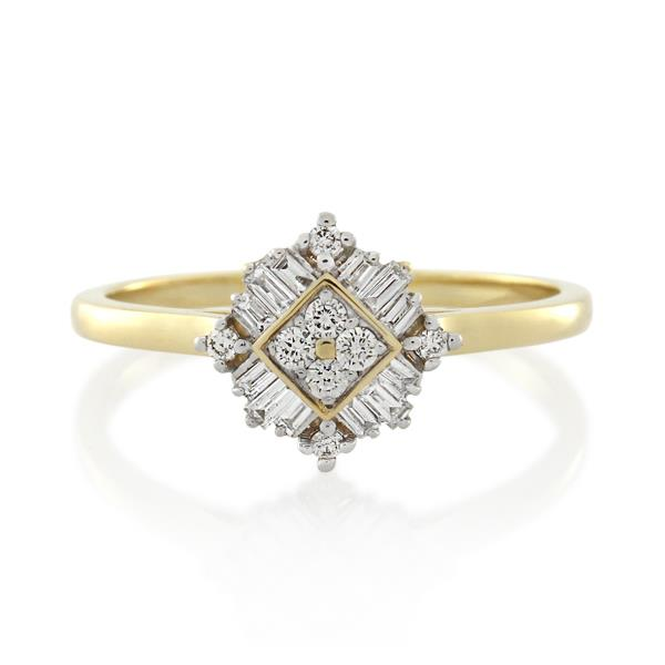9CT Yellow Gold 0.25ct Diamond Ladies Ring - Monty Adams