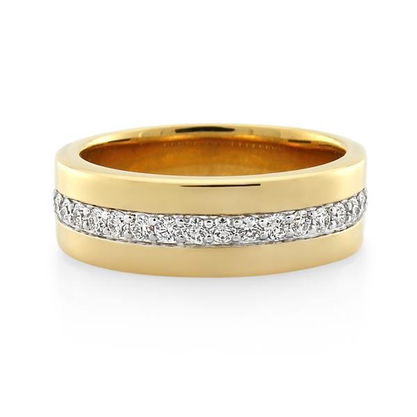 18CT Yellow Gold 0.43ct Diamond Gents Ring - Monty Adams