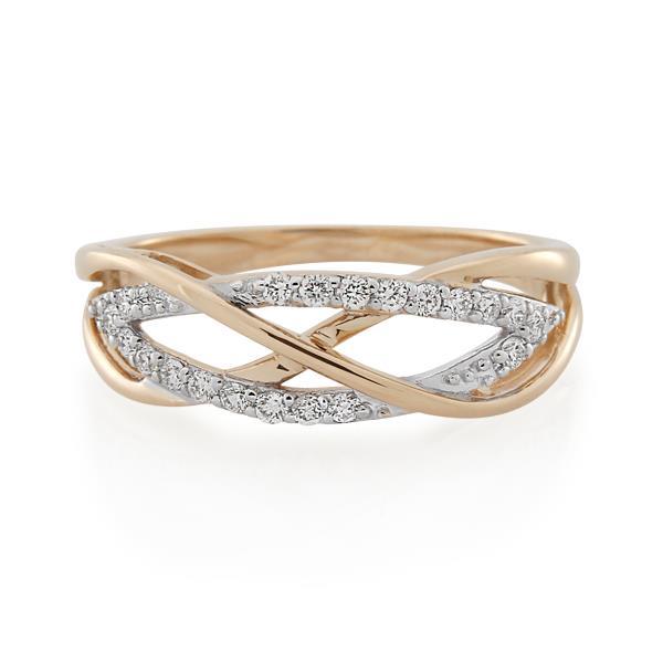 9CT Rose Gold 0.20ct Diamond Ladies Ring - Monty Adams