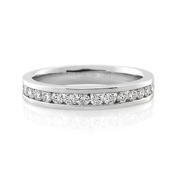 18CT White Gold 0.51ct Diamond Ladies Ring - Monty Adams