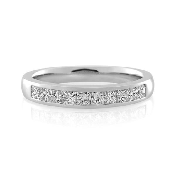 18CT White Gold 0.50ct Diamond Ladies Ring - Monty Adams