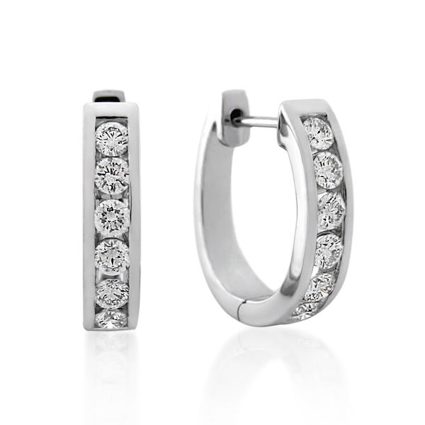 18CT White Gold 1.02ct Diamond Earrings - Monty Adams