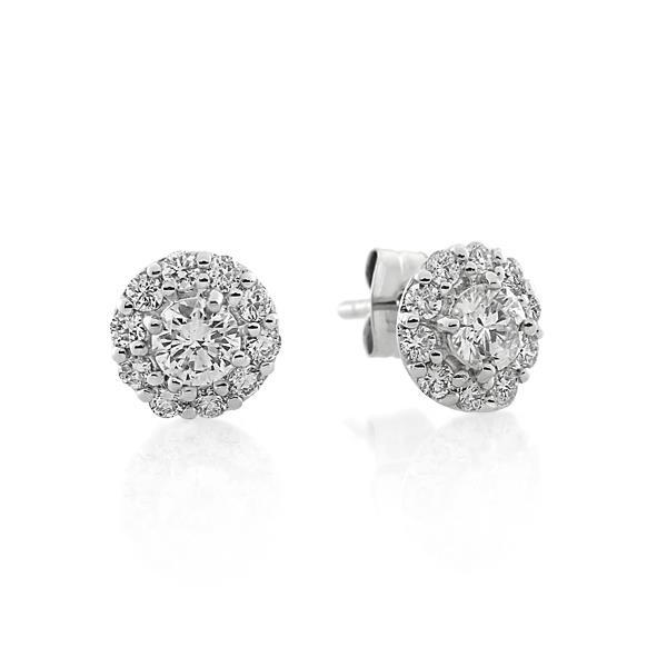 18CT White Gold 0.76ct Diamond Earrings - Monty Adams