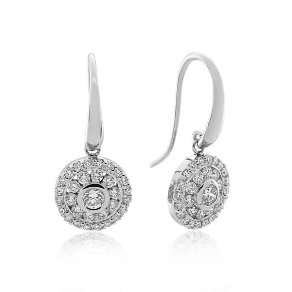 18CT White Gold 1.05ct Diamond Earrings - Monty Adams