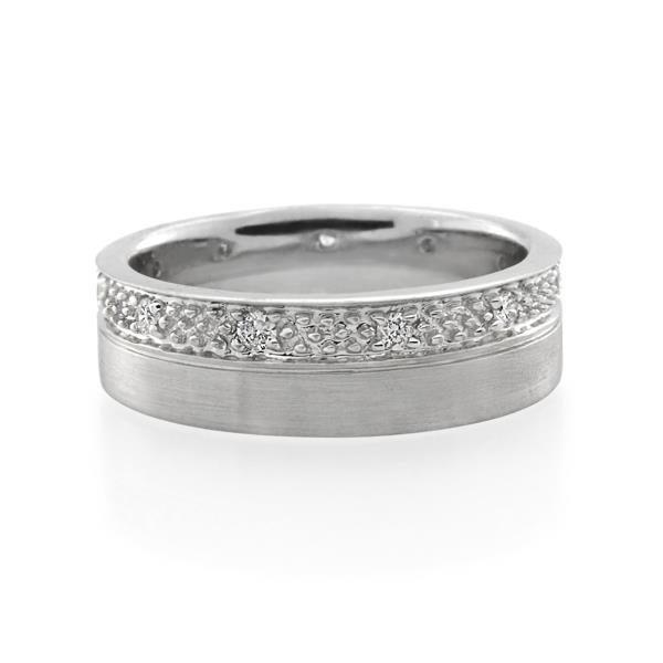 18CT White Gold 0.16ct Diamond Ladies Ring - Monty Adams