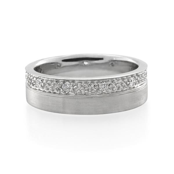 18CT White Gold 0.16ct Diamond Ladies Ring - Monty Adams