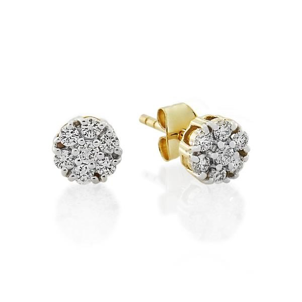 9CT Yellow Gold 0.30ct Diamond Earrings - Monty Adams
