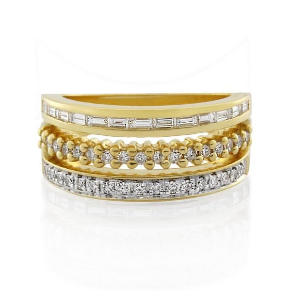 18CT Yellow Gold 0.52ct Diamond Ladies Ring - Monty Adams
