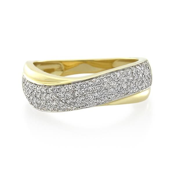 9CT Yellow Gold 0.50ct Diamond Ladies Ring - Monty Adams