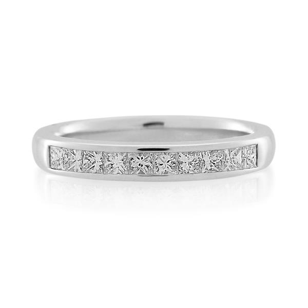 18CT White Gold 0.52ct Diamond Ladies Ring - Monty Adams