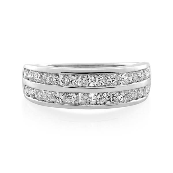 9CT White Gold 1.10ct Diamond Ladies Ring - Monty Adams