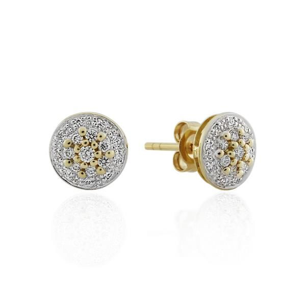 9CT Yellow Gold 0.25ct Diamond Earrings - Monty Adams