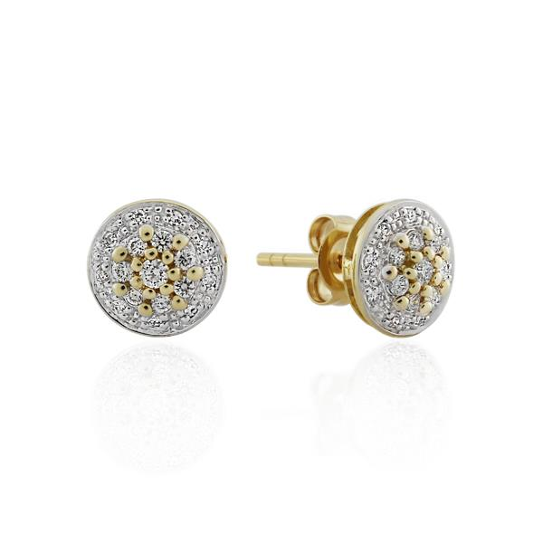9CT Yellow Gold 0.25ct Diamond Earrings - Monty Adams