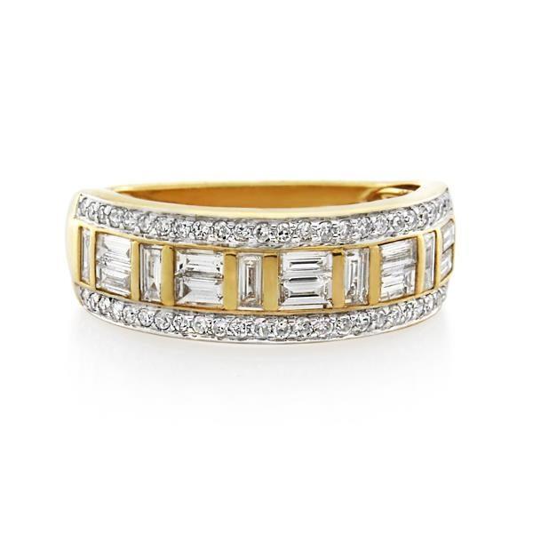 9CT Yellow Gold 1.00ct Diamond Ladies Ring - Monty Adams