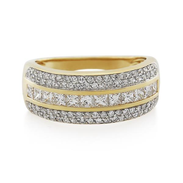 9CT Yellow Gold 1.00ct Diamond Ladies Ring - Monty Adams