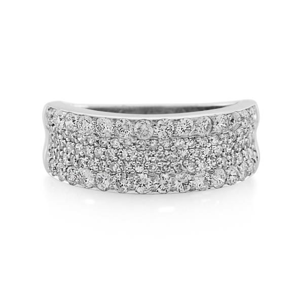 9CT White Gold 1.00ct Diamond Ladies Ring - Monty Adams
