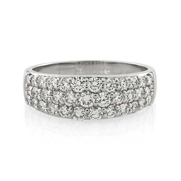 9CT White Gold 1.02ct Diamond Ladies Ring - Monty Adams