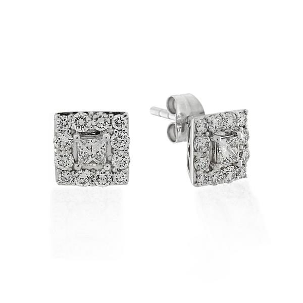 9CT White Gold 0.74ct Diamond Earrings - Monty Adams