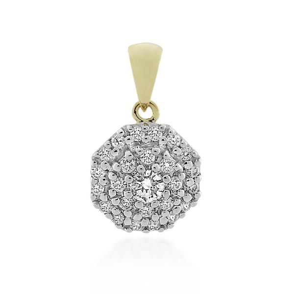 9CT Yellow Gold 0.45ct Diamond Pendant - Monty Adams