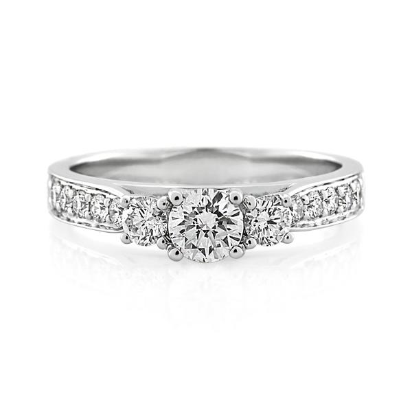 18CT White Gold 0.75ct Diamond Ladies Ring - Monty Adams