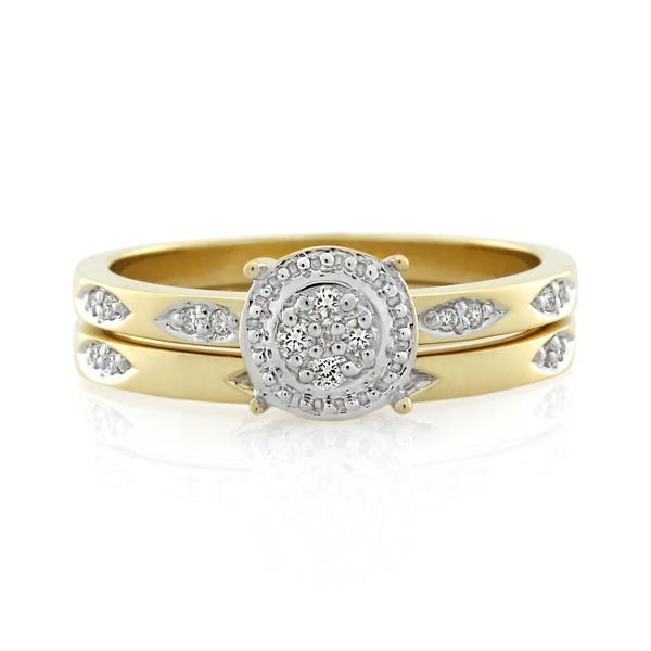 9CT Yellow Gold 0.10ct Diamond Ladies Ring - Monty Adams