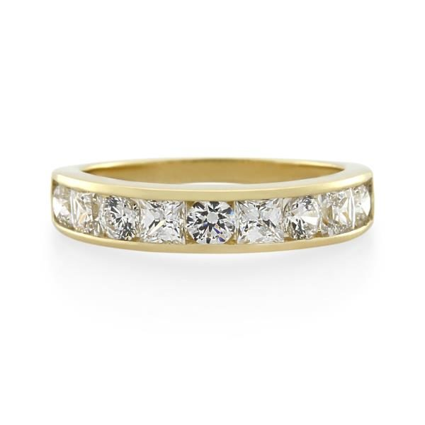 9CT Yellow Gold White Cubic Zirconia Ladies Ring - Monty Adams