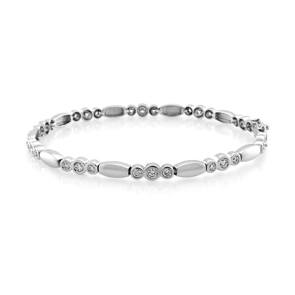 18CT White Gold 1.60ct Diamond Bracelet 19cms - Monty Adams