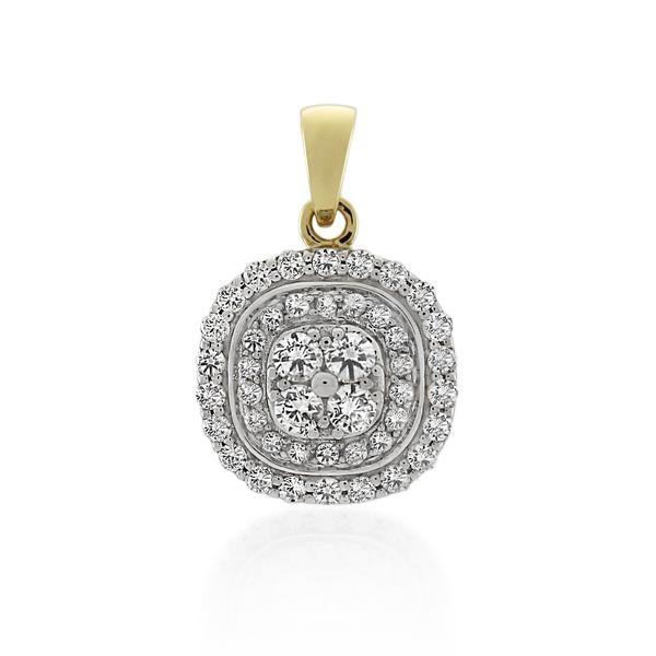 9CT Yellow Gold 0.51ct Diamond Pendant - Monty Adams