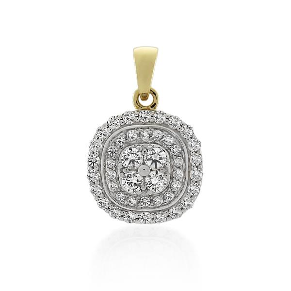 9CT Yellow Gold 0.51ct Diamond Pendant - Monty Adams