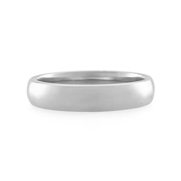 18CT White Gold  Ladies Ring Width 4.5 mm. - Monty Adams