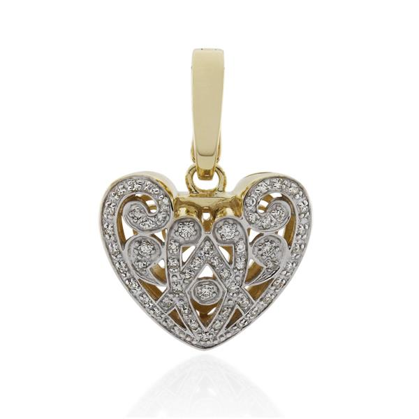 9CT Yellow Gold 0.33ct Diamond Pendant - Monty Adams