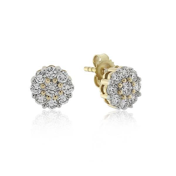 9CT Yellow Gold 0.50ct Diamond Earrings - Monty Adams