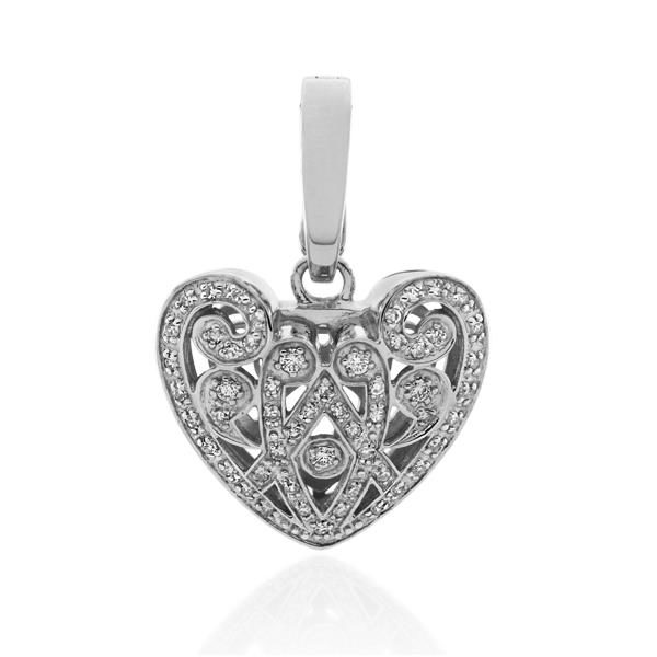 9CT White Gold 0.33ct Diamond Pendant - Monty Adams