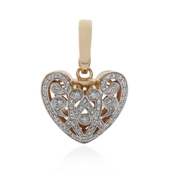 9CT Rose Gold 0.33ct Diamond Pendant - Monty Adams