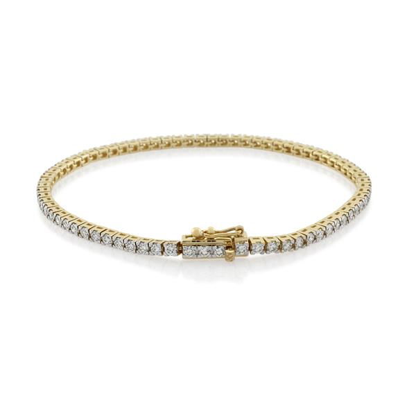 9CT Yellow Gold 2.88ct Diamond Bracelet Total length 18.00 cm. - Monty Adams
