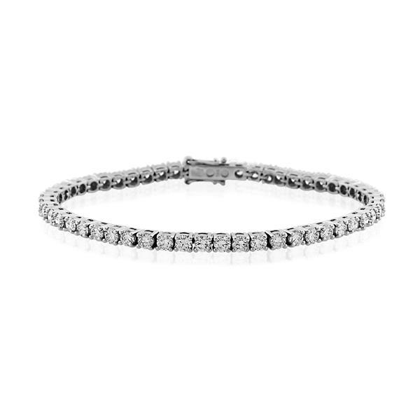 14CT White Gold 4.50ct Diamond Bracelet length 16.8 cm./ wide 2.85mm - Monty Adams