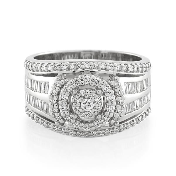 14CT White Gold 1.25ct Diamond Ladies Ring - Monty Adams