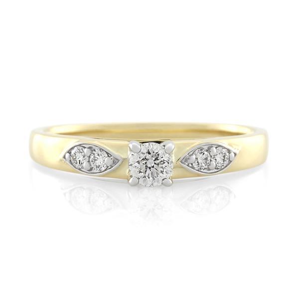 9CT Yellow/White Gold 0.37ct Diamond Ladies Ring - Monty Adams
