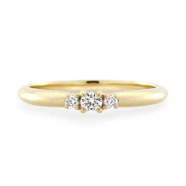 9CT Yellow Gold 0.16ct Diamond Ladies Ring - Monty Adams