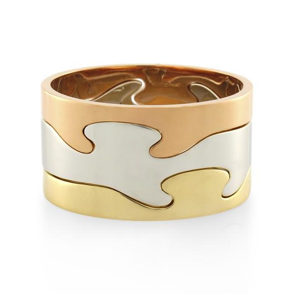 9CT White/Yellow/Rose Gold  Ladies Ring - Monty Adams