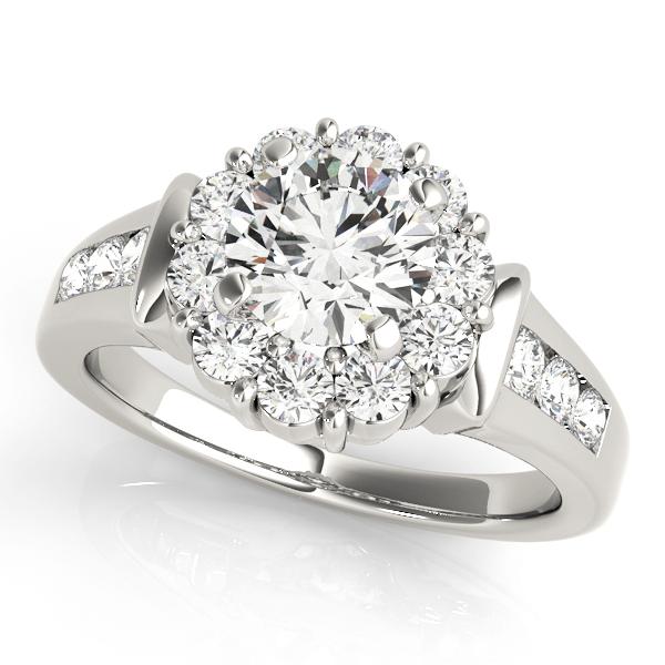 Halo Engagement Ring 50455-E