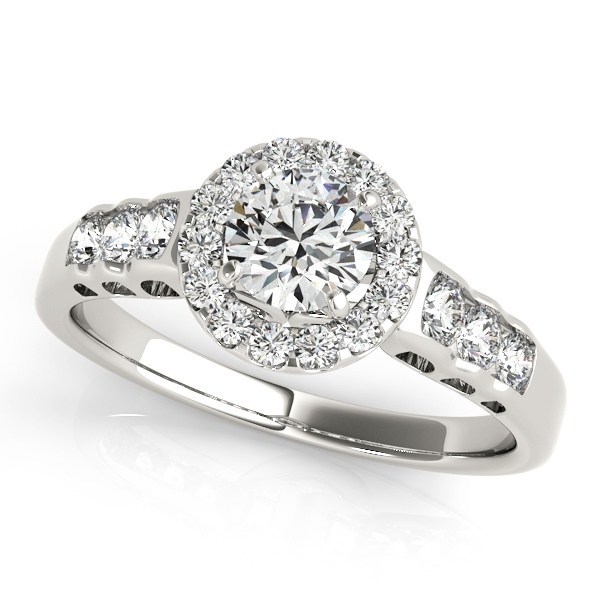 Halo Engagement Ring 50516-E