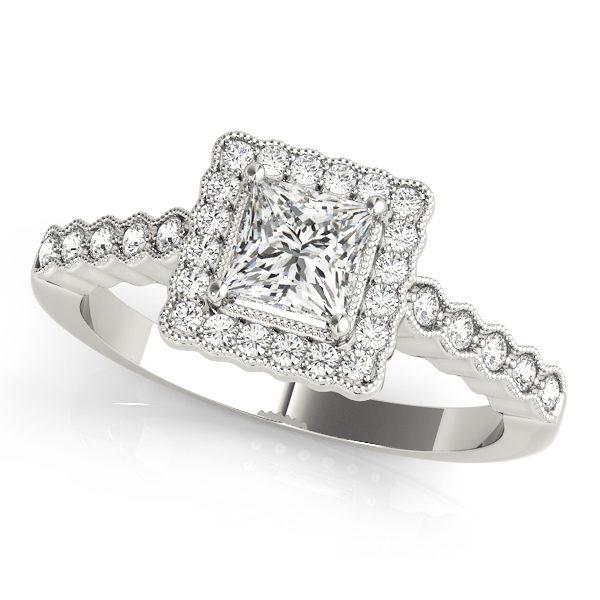 Halo Engagement Ring 51024-E